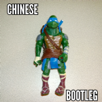 Teenage mutant ninja turtles TMNT 2014 Leonardo movie figure loose bootleg